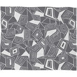 Heather Dutton Fragmented Grey Fleece Throw Blanket