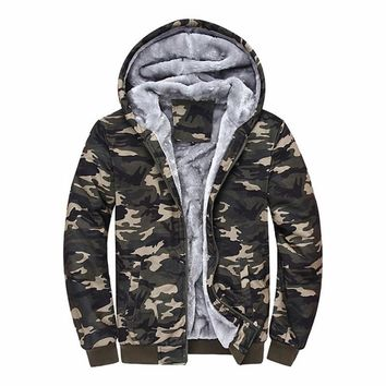 Sudaderas Hombre 2017 Brand Clothing Camouflage Hoodies Tracksuits Velvet Fleece Thick Camo Mens Hoodies and Sweatshirts