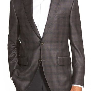 Peter Millar Classic Fit Plaid Wool Sport Coat,
