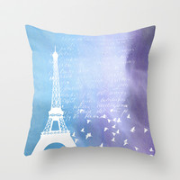 Paris Throw Pillow by C Designz