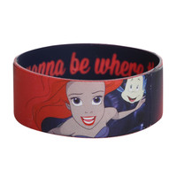 Disney The Little Mermaid I Wanna Be Rubber Bracelet