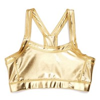 Zella Metallic 'Spirit' Sport Top (Little Girls & Big Girls) | Nordstrom