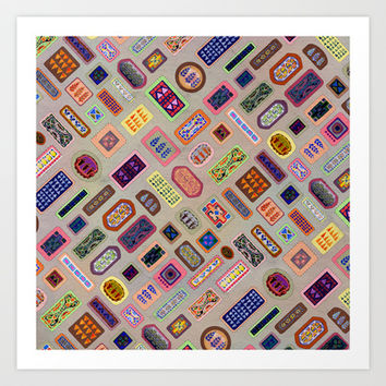 Multi color melody light Art Print by Vanya