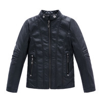 High Quality  2015 New Fashion Autumn Spring Boys Girls PU Leather Jackets Children 4-16Y Clothing Kids Warm Coat Outerwear