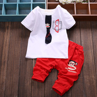 Brand,new 2015,summer,clothing set,newborn,baby boy clothes,baby wear,kids clothes sets,t-shirt+pants suit