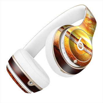 Bright Orange Ocean Sunset Skin for the Beats By Dre Headphones