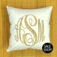 40% OFF Monogram Pillow Sequin Decorative Pillow Personalized Custom Made Dorm Decor Baby Housewarming Wedding Anniversary Gift in All Sizes