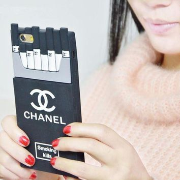 LMFUP0 chanel fashion personality cigarette iphone phone cover case for iphone 6 6s 6plus 6s plus 7 7plus