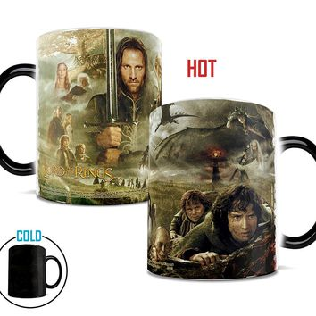 Discoloration Cups Ring King Mugs Lord of The Rings Fans Gifts Mythopoeia Ceramic Coffee Water Mugs Creative Products Hobbit