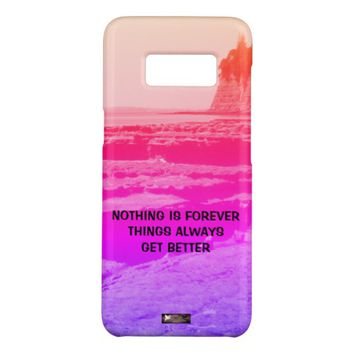 Forever Photo Quote by Kat Worth Case-Mate Samsung Galaxy S8 Case
