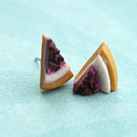 cheesecake stud earrings