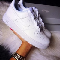 Unisex NIKE Air force Running Sport Casual Shoes Sneakers White