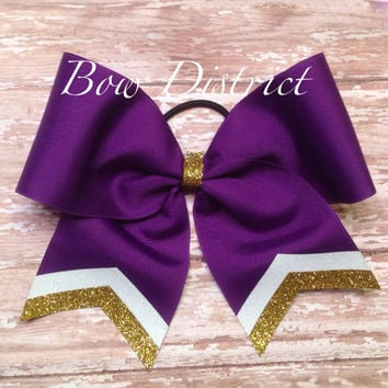 "3"" Team Cheer Bow with Tail Stripes"