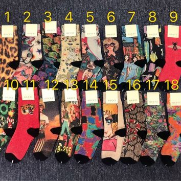GUCCI GG Graffiti Lurex Socks