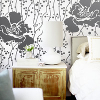 Wall Stencil  Large Flower Pattern Polka Dot Wall Room Decor Made by OMG Stencils Home Improvements Color Paintings 0069