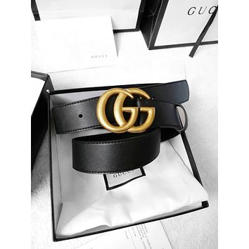 GUCCI Tide brand classic style wild personality smooth buckle belt