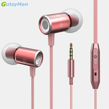 GutsyMan GM07 In-Ear Earphone Headset Magnetic Clarity Stereo Sound With Mic Earphones For iPhone6 7 8 Mobile Phone MP3 MP4 Mi5