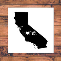California Home Decal | California State Decal | Homestate Decals | Love Sticker | Love Decal  | Car Decal | Car Stickers | Bumper | 045