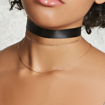 Ribbon Chain Choker Set