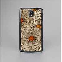 The Tan & Orange Tipped Flowers Pattern Skin-Sert Case for the Samsung Galaxy Note 3