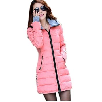 Camperas Mujer Invierno 2017 Winter Jacket Women Parka With Gloves Cotton Maxi Wadded Jackets Coats Plus Size Long Jacket ZL382A