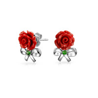 Bling Jewelry Bows and Roses Studs
