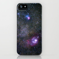 Lagoon and Trifid Nebula in Sagitarius iPhone Case by Guido Montañés | Society6