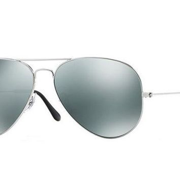 LMF8UH Ray Ban Aviator Sunglass Silver Mirrored RB 3025 003/40
