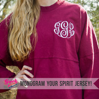 Add a Monogram (Spirit Jersey NOT Included)