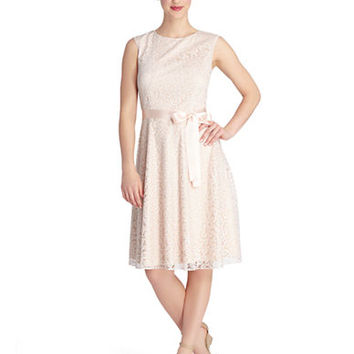Tahari Arthur S. Levine Petite Douglas Fit and Flare Dress