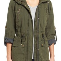 Levi's® Parachute Hooded Cotton Utility Jacket | Nordstrom