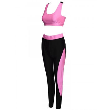 Women Athletic Gym Yoga Clothes Running Fitness Sport Bra + Pants Sets