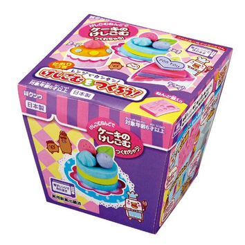 Japanese Popular DIY Kit !! Kutsuwa Kawaii Cake Eraser Making Kit with Scented Clay - Shipping from Japan