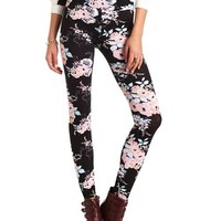 HIGH-WAISTED FLORAL PRINT LEGGING