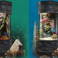 Beautiful Cylinder Fish Tank - Opulentitems.com
