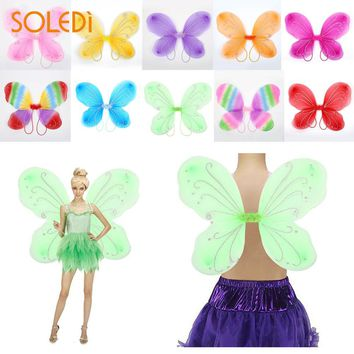 Elf Fairy Wing Decor Adult NEW Butterfly Wings Supplies Girls Beautiful Dress Up 10 Color DIY Costume Halloween Christmas