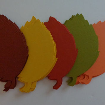 READY TO SHIP!! 100 Large (4 inch) Die Cut Fall Leaf, Fall Leaf Die Cut, Wish Tag,  Fall Wedding Decor- Placecards