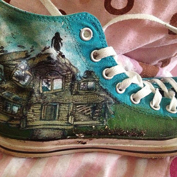 bf7ce38f34a259 Ptv Pierce The Veil Hand Painted Converse Shoes- CUSTOM DESIGNS AVAILABLE!