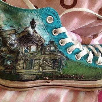 Ptv Pierce The Veil Hand Painted Converse Shoes- CUSTOM DESIGNS AVAILABLE!
