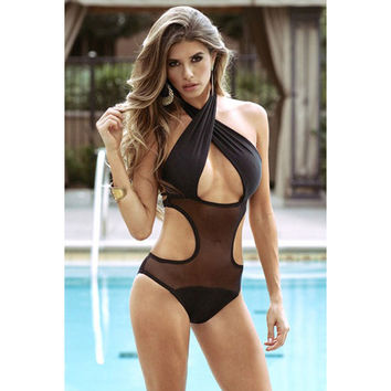 Summer Hot New Arrival Swimsuit Beach Casual Black Design Sexy Swimwear Bikini [6047648065]