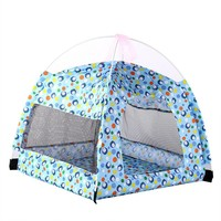 Foldable Pet Tent Pet House Pet Camping Tent Pet Supplies for Dog and Cat Indoor Outdoor (Blue)