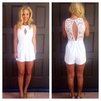 Dancing in the Isles Romper - White
