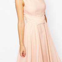 ASOS WEDDING Soft Midi Prom Dress
