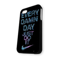 Water Splash Nike Every Damn Day Just Do It iPhone 4/4S Case