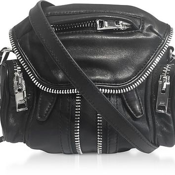 Alexander Wang Black Nappa Leather Micro Marti Shoulder Bag