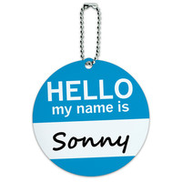 Sonny Hello My Name Is Round ID Card Luggage Tag