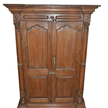 Antique Moroccan Style Cabinet Rustic Reclaimed Wood Armoire Wardrobe Storage