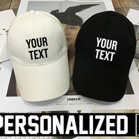 Personalized Dad Hat, Matching Couples Hat Set, Couples Hats, Honeymoon, LESBIAN Dad hat , snapback , Your Own Baseball Cap Baseball Hat