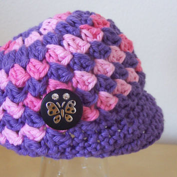 baby girl hat, newborn clothing, infant crochet beanie
