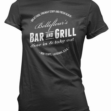 Bellefleur's Bar and Grill T-Shirt - true blood, tv tee shirt, vintage, mens gift, womens gift, vampires, horror tshirt,  sam, suki, bill,